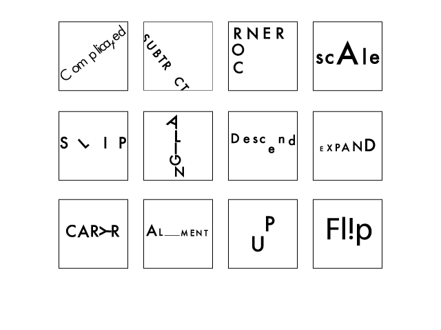 I created each of these in Adobe Illustrator. The purpose of a typogram is to communicate a visual message with a word.