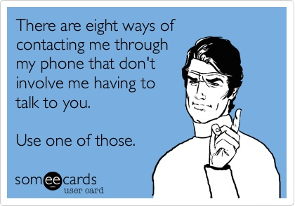 contacting someone