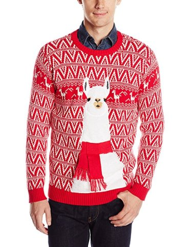 llama ugly christmas sweater