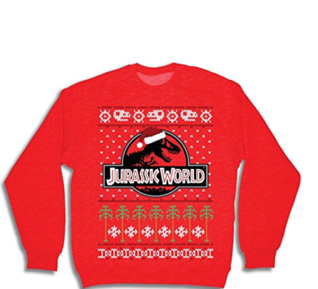 jurassic world christmas sweater