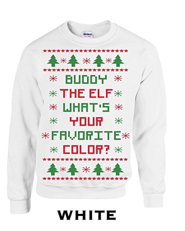 buddy the elf christmas sweater